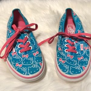 Vans Blue pink Hello kitty bows Shoes size 5